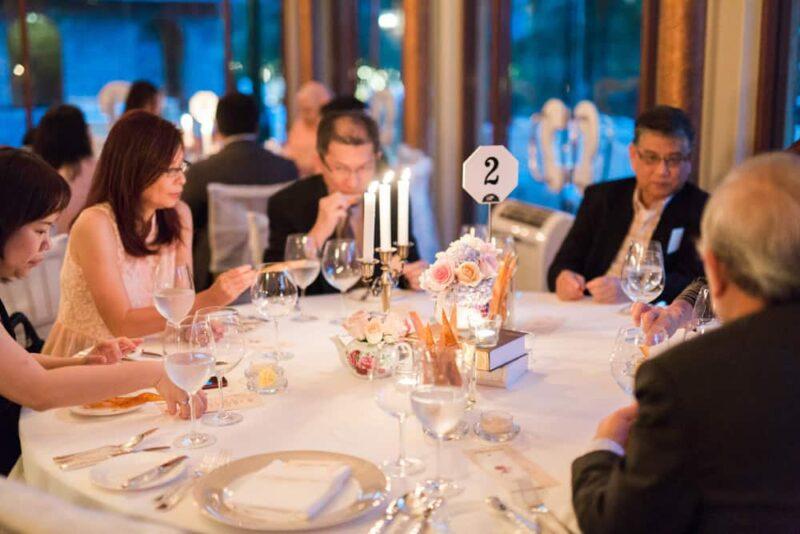 french village wedding dinner