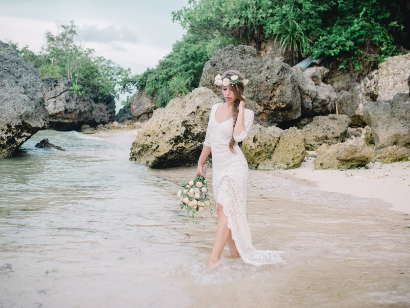 Bohemian Beach Styled Shoot in Bali