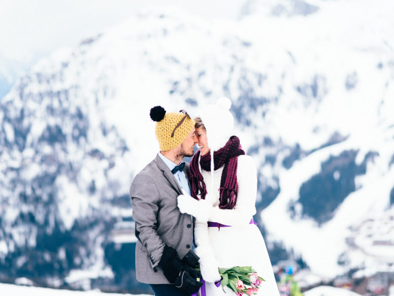 Snowboarding pre-wedding in Austria // Domi + Levi