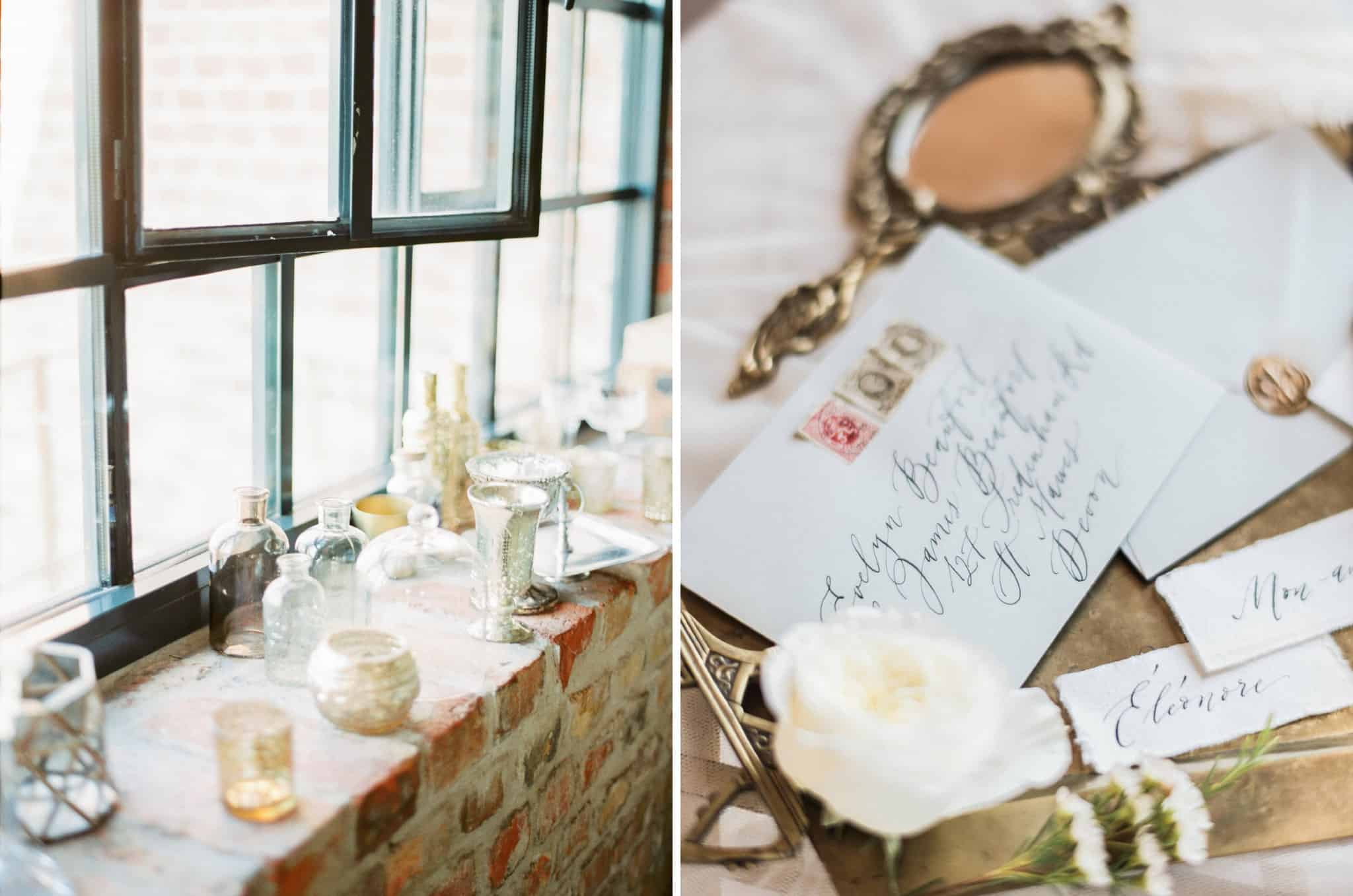 Éléonore // Industrial Chic Bridal Boudoir Inspiration - Wed Over Hills