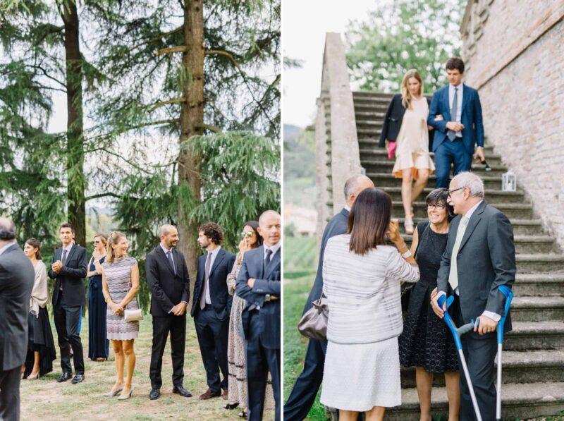 villa dei vescovi guests arriving