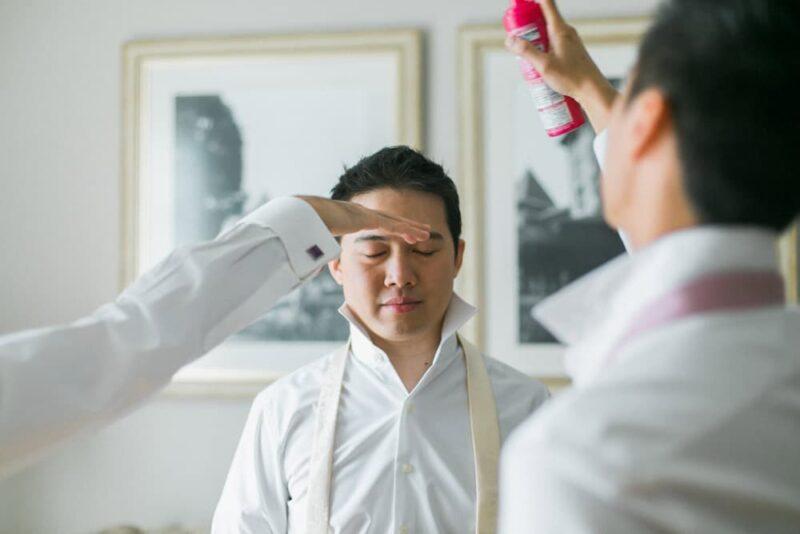 malaysia groom getting ready