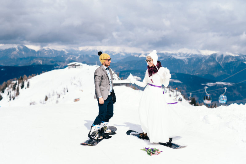 snowboard birde and groom