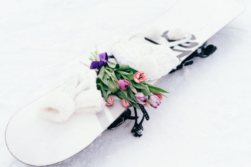snowboard wedding