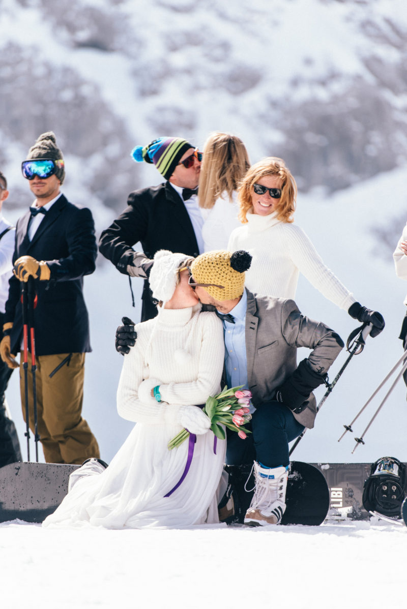ski wedding party